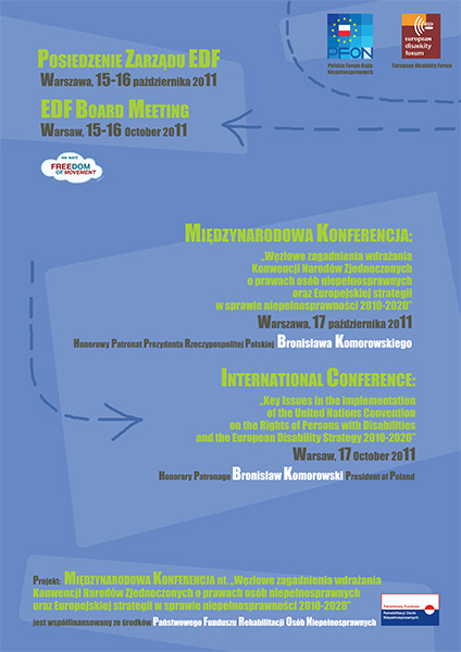 Międzynarodowa konferencja nt. Konwencji ONZ i Europejskiej strategii w sprawie niepełnosprawności